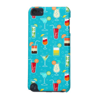 Cocktail Pattern on Teal Background iPod Touch 5G Covers
