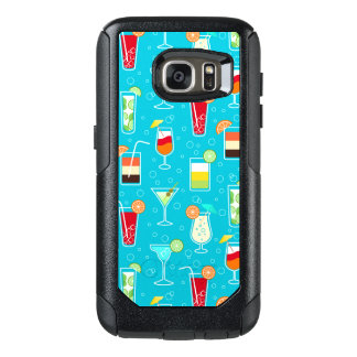 Cocktail Pattern on Teal Background OtterBox Samsung Galaxy S7 Case