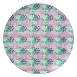 Cocktail Pattern Party Plate