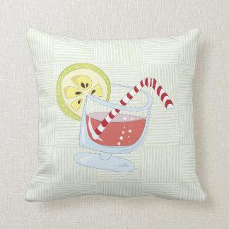 Cocktail pattern throw pillow
