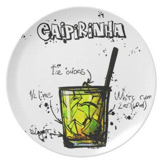 Cocktail Recipe Caipirinia Plate