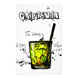 Cocktail Recipe Caipirinia Stationery