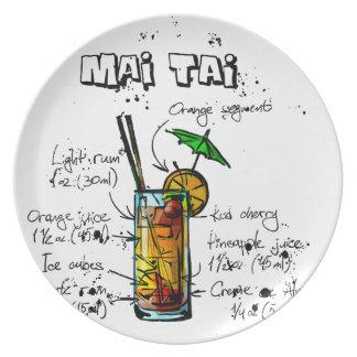 Cocktail Recipe Mai Tai Plate