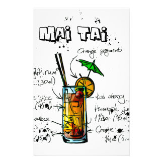 Cocktail Recipe Mai Tai Stationery
