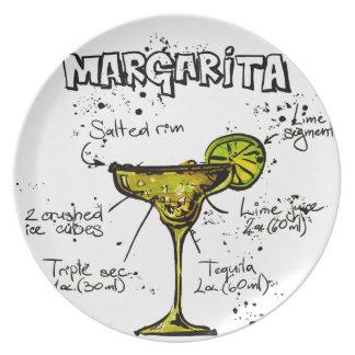 Cocktail Recipe Margarita Plate