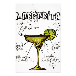 Cocktail Recipe Margarita Stationery