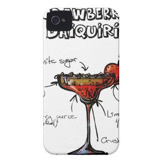 Cocktail Recipe Strawbeery Daiquiri iPhone 4 Case