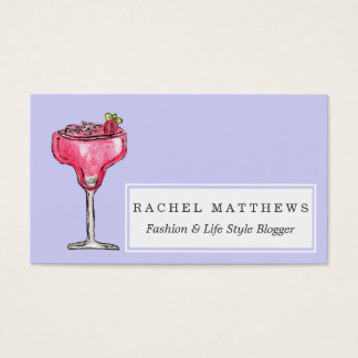 Cocktail Strawberry Daiquiri Red Watercolor Paint