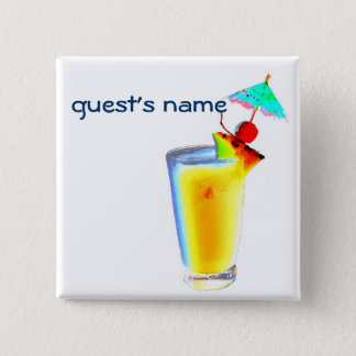 Cocktail Umbrella Drinks name badge