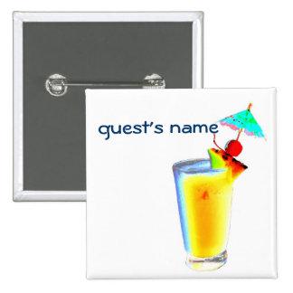 Cocktail Umbrella Drinks name badge