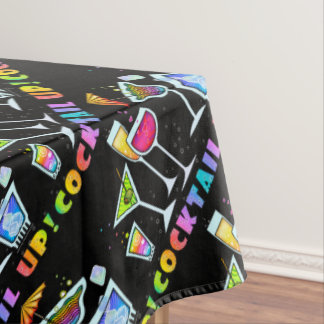 COCKTAIL UP - COCKTAIL GLASSES TABLECLOTH