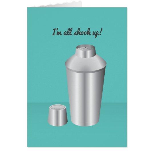 Cocktail Valentine: I'm all shook up! Card