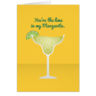 Cocktail Valentine: The lime in my Margarita Card