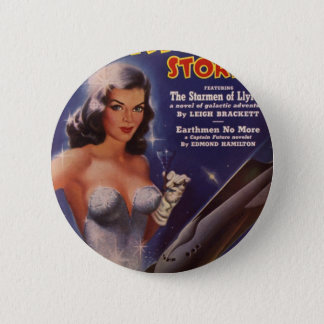 Cocktail Waitress in Space 6 Cm Round Badge