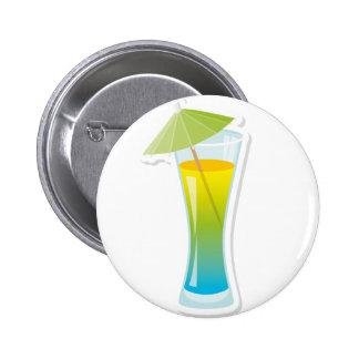 Cocktail with umbrella 6 cm round badge