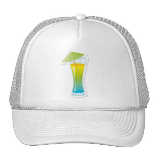Cocktail with umbrella hat