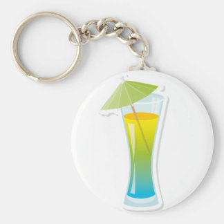 Cocktail with umbrella key chains