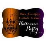 Cocktails and Costumes Chandelier Halloween Party Personalised Announcement