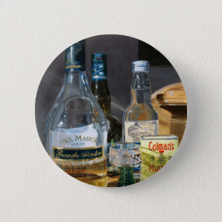 Cocktails and Mustard 6 Cm Round Badge