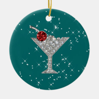 Cocktails Anyone? by SRF Round Ceramic Decoration