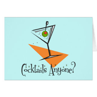 Cocktails Anyone Greeting Cards