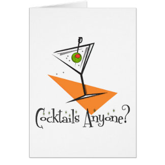 Cocktails Anyone? Greeting Card