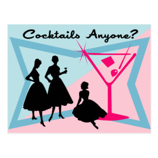 Cocktails Anyone? Postcard