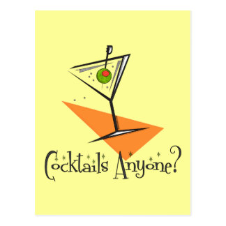 Cocktails Anyone? Postcard