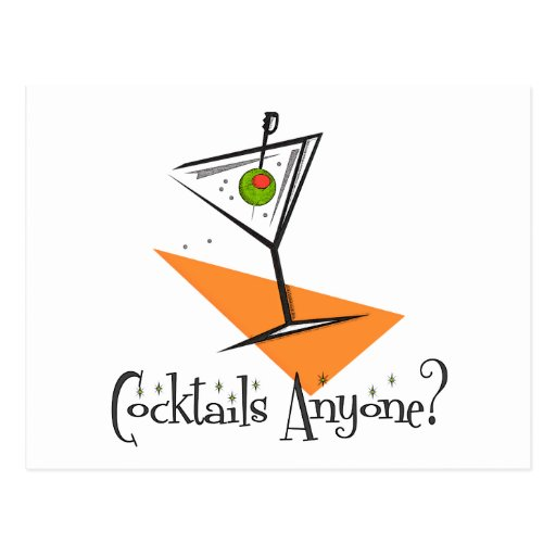 Cocktails Anyone? Post Card