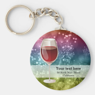 Cocktails Basic Round Button Key Ring