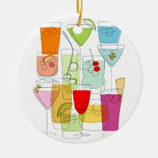 Cocktails Christmas Ornament