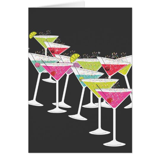 Cocktails for a Big Birthday Funny Greeting Card