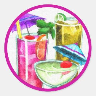 Cocktails Round Sticker