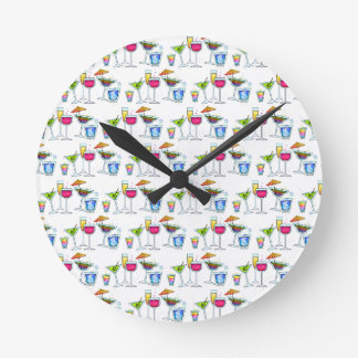 COCKTAILS UP WALL CLOCK