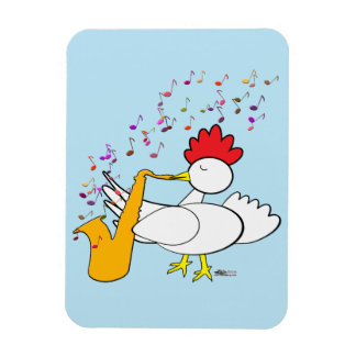 Cocky Sax Player Rectangular Photo Magnet