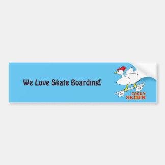 Cocky Skater Bumper Sticker