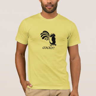 """""""COCKY!"""" Stylized Rooster T-Shirt"""