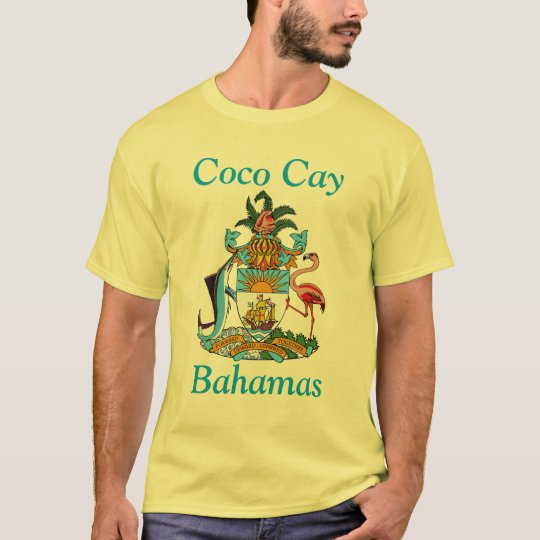 Coco Cay, Bahamas with Coat of Arms T-Shirt