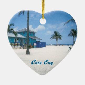 Coco Cay Ceramic Heart Decoration