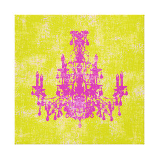 """Coco Chandelier ~ CHANGE COLOR 12x12 .75"""" Thick Canvas Print"""