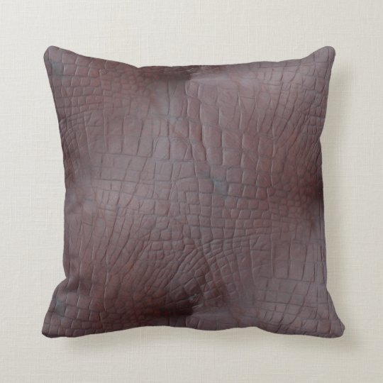 Coco Crocodile Faux Leather Cushion