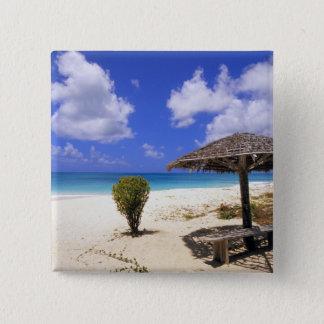 Coco Point Beach, Barbuda, Antigua 15 Cm Square Badge