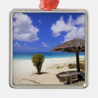Coco Point Beach, Barbuda, Antigua Silver-Colored Square Decoration