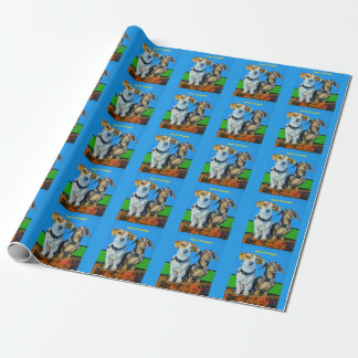 Cocoa and Poppy Pet Wrapping Paper