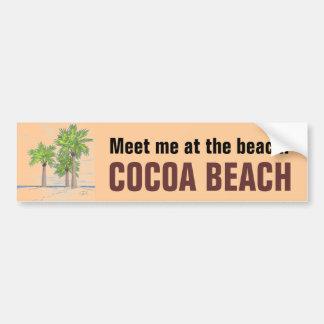COCOA BEACH bumper sticker Car Bumper Sticker
