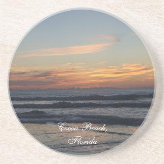 Cocoa beach Florida sunrise waves photo coaster