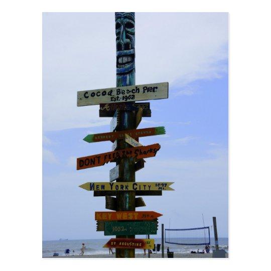 Cocoa Beach Landmark Postcard