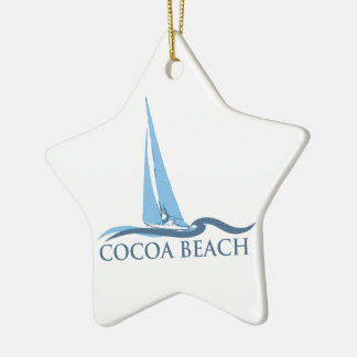 Cocoa Beach - Sailing. Christmas Ornament
