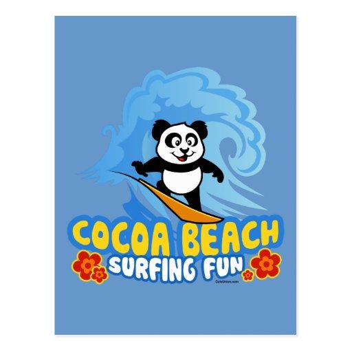 Cocoa Beach Surfing Fun Post Card