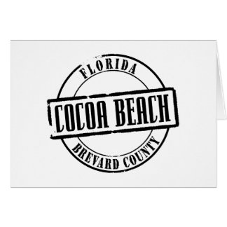 Cocoa Beach Title Note Card